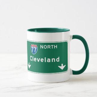 Mug Panneau routier de Cleveland, OH