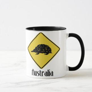 Mug Panneau routier de l'Australie - Echidna