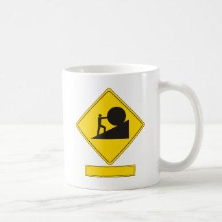 Mug Panneau routier de Sisyphus