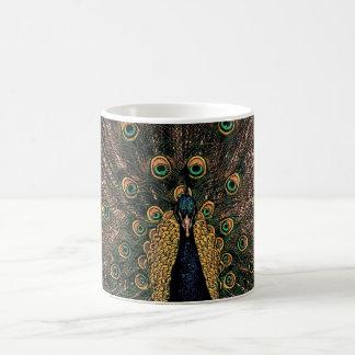 Mug Paon dans des couleurs légèrement modérées