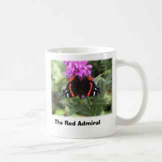 Mug papillon d'amiral rouge, amiral rouge