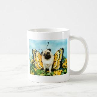 Mug Papillon de chien de carlin
