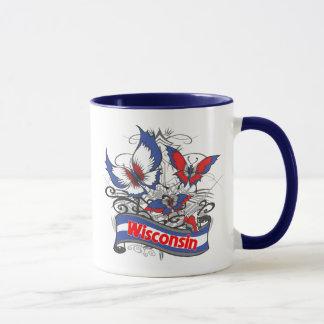 Mug Papillon de patriotisme du Wisconsin