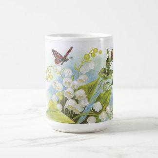 Mug Papillon, roses et muguet chics minables
