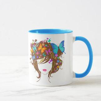 Mug Papillons et fleurs