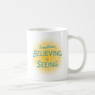 Mug Parfois la croyance est voir le message de la foi