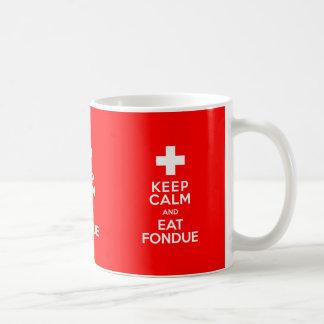 Mug Partie suisse ! Maintenez calme et mangez la