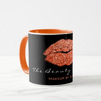 Mug Parties scintillantes noires de corail de lèvres