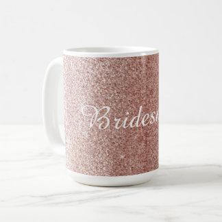 Mug Parties scintillantes roses de Faux d'or avec le
