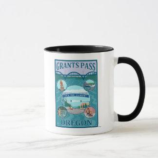 Mug Passage de concessions, affiche de voyage