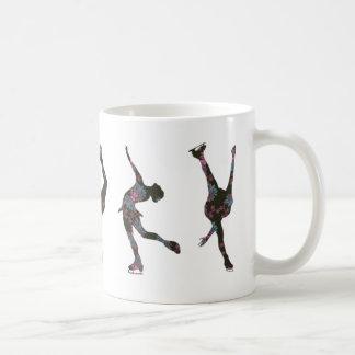 Mug Patineurs artistiques, rose, motif gris