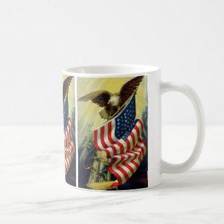 Mug Patriotisme vintage, drapeau américain patriotique