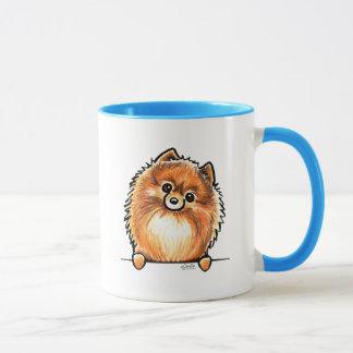 Mug Pattes rouges de Pomeranian