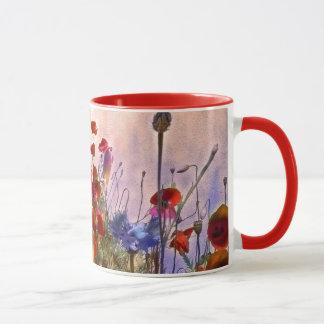 Mug Pavots de style bohème