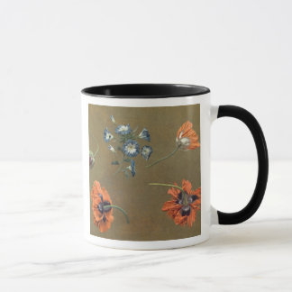 Mug Pavots et Tradascanthus (huile sur la toile)