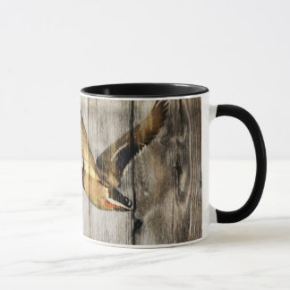 Mug Pays occidental en bois de grange rustique