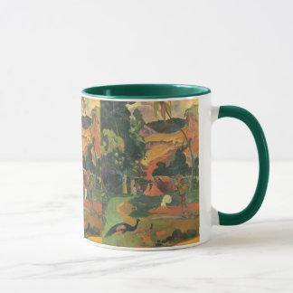 Mug Paysage avec des paons par Paul Gauguin