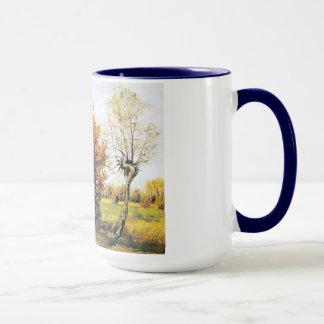 Mug Paysage d'automne avec quatre arbres