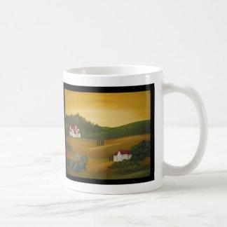 Mug Paysage toscan d'or