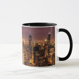 Mug Paysage urbain de nuit de Chicago