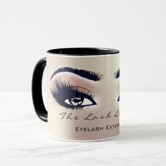 Mug Pêche BlushPink de studio de maquillage d'oeil