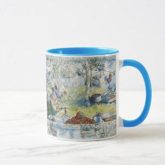 Mug Pêche vintage de Carl Larsson Cray avec la famille