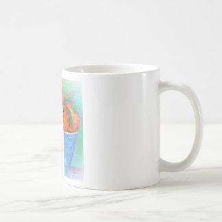 Mug Pêches dans une cuvette bleue