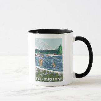 Mug Pêcheur de mouche - parc national de Yellowstone