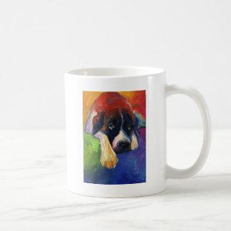 Mug Peinture d'art de cadeau de chien de St Bernard