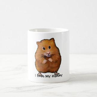 Mug Peinture de HAMSTER, j'aime mon Hammy