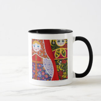 Mug Peinture de poupée de Matryoshka de Russe