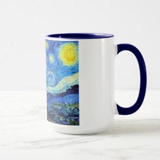 Mug Peinture fraîche de Vincent van Gogh de nuit