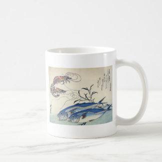 Mug Peinture japonaise de vie marine circa 1800's