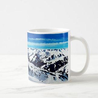 Mug peinture sommet montagne neige