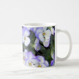 Mug Pensées pourpres et blanches