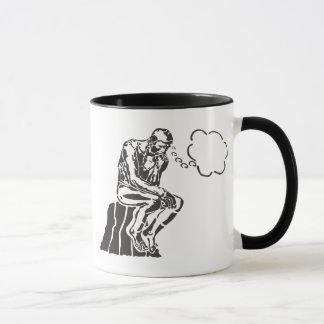 Mug Penseur drôle de Rodin