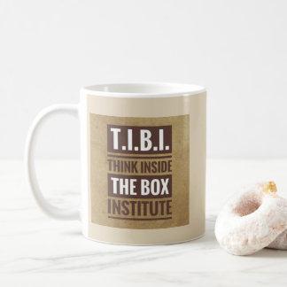 Mug Pensez à l'intérieur de la boîte