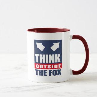 Mug Pensez en dehors du renard