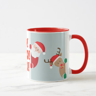 Mug Père Noël et vacances de Rudolph