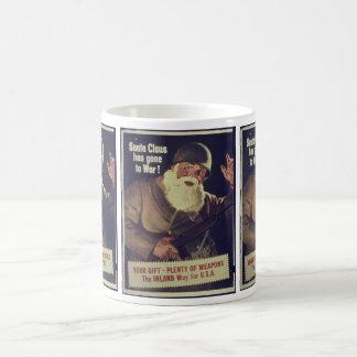 Mug Père Noël vintage va à l'affiche de guerre
