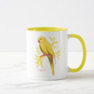 Mug Perroquet jaune de Ringneck d'Indien