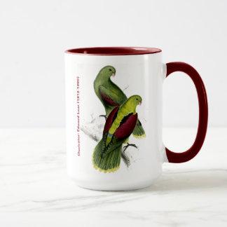 Mug Perruche à ailes par cramoisi d'oiseau d'Edward