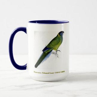 Mug Perruche de Bauers de collection d'oiseau d'Edward