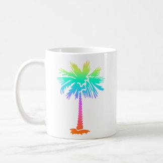Mug personnalisable lumineux d'été tropical au néon de
