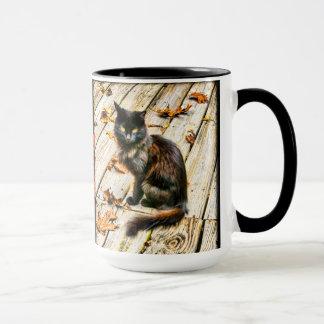 Mug Personnalisez : Photographie de chat noir de