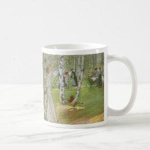 Mug Petit déjeuner dans l'ouvert par Carl Larsson