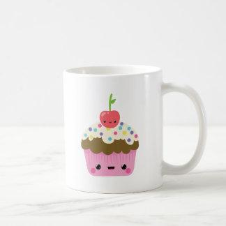 Mug Petit gâteau de Kawaii avec la cerise sur le