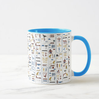 Mug Pharaon d'Egypte antique d'hiéroglyphes
