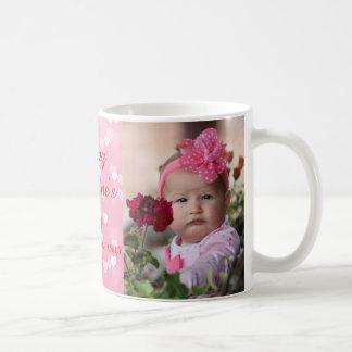 Mug Photo rose de Saint-Valentin de coeurs