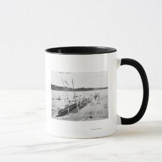 Mug Photographie d'équipe d'équipage d'aviron